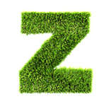 specialty font, letters, alphabet in grass