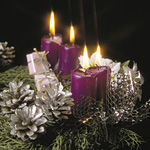 Christmas,  Noel, Santa, angels, candles, Christmas trees, holiday decorations