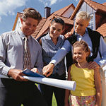 buying homes, new home construction, people and properties