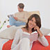 young women and men - young adults