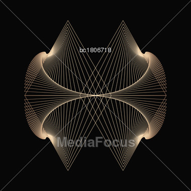 Abstract Background With Golden Lines, Vector Stock Photo