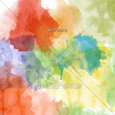 Beautiful Hand Painted Watercolor Background , Vector Format Stock Photo