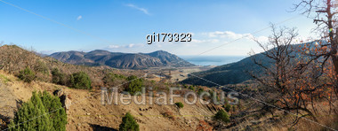 Boulders On A Mountain Plateau In Crimea Stock Photo