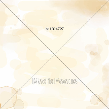 Delicate Watercolor Background With Water Stains, Vector Format Stock Photo