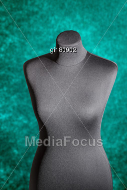 Figure In The Shape Of A Human Torso To Try On Dresses And Display. Close-up Stock Photo