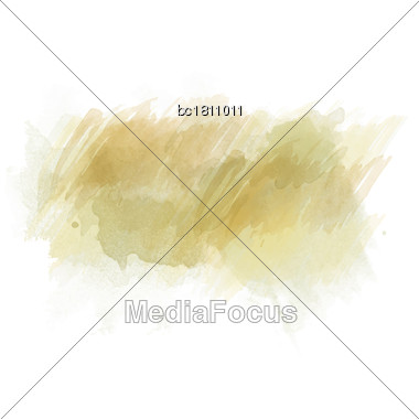 Green And Orange Watercolor Painted Stain Isolated On White Background, Vector Eps 10 Stock Photo