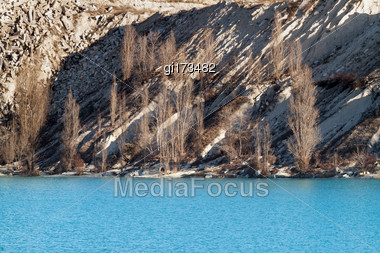 Lake Emerald-turquoise Color Formed In An Old Quarry Stock Photo