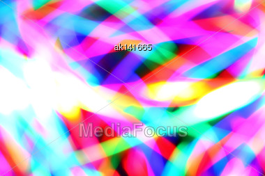 Motion A Motley Spots As Abstract Of-focus Background Stock Photo