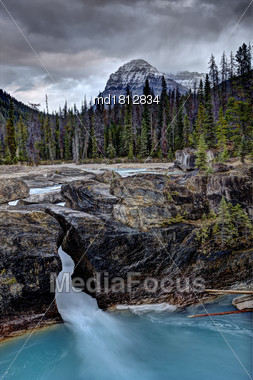 Natural Bridge Yoho National Park Canada Scenic Stock Photo