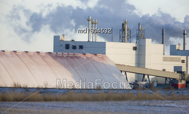 Potash Mine Saskatchewan K + S Bethune Location Stock Photo