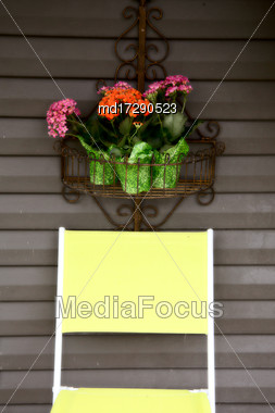 Prairie Scene Saskatchewan Summer Front Porch Rural Stock Photo