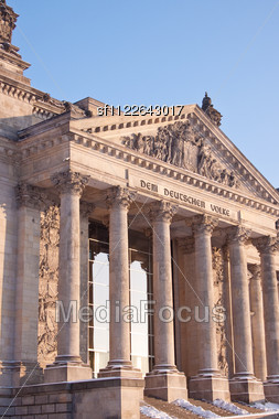 Reichstag. The German Parliament Building in Berlin. Stock Photo