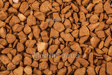 Soluble Coffee Granules, Closeup Stock Photo