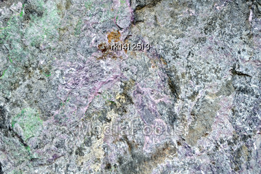 Texture Of Natural Gray, Pink And Green Granite Stone Stock Photo