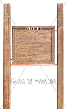 wooden add board Stock Photo