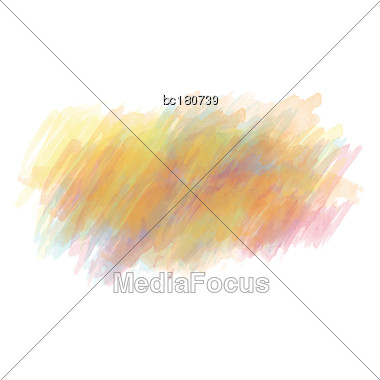 Yellow And Orange Watercolor Painted Vector Stain Isolated On White Background, Vector Eps10 Stock Photo