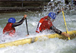 water canoeing speed racing sports action stock image