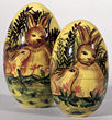 holiday eggs Easter bunny decorations stock image