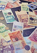 coins german foreign bills currency stock image