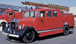 old truck vintage emergency rescue anitque stock photo