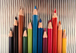 draw colorful backgrounds art drawing pencils stock image