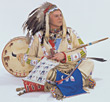 native costume indian drums stock photography