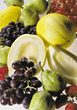 fruit platter tropical exotic grapes fresh stock photography