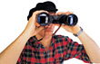 magnifying watching symbolic expressions focusing stock photo