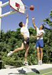 1 On 1 Basketball stock photography