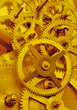 metal backgrounds yellow gears rivets stock photography
