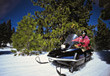 winter snowmobile outdoors sports active stock photo