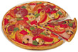 Pizza italian food pizza entrees cooked prepared stock photography