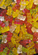 sweets colorful candy bears background gummy stock image