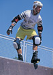 protective kneepads rollerblading male sport people stock photo
