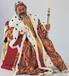 costumes royalty king Halloween stock image