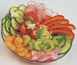 raw radishes peppers plate appetizers cucumber stock image