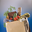 shoppingbag nutrition groceries buy paper buying stock photography