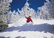 skiing winter snow outdoors sports active stock image