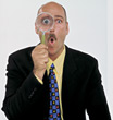gestures expression magnifying tie watch speechless stock image