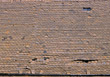 Roofing broken damaged roofs backgrounds shingles brown stock image