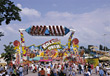 rides fairs park carnival amusement crowds stock image