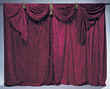 curtains performance stage stock photo