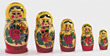 carved-wood russian vintage colorful fragile play stock image