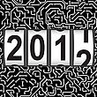 2012 New Year Counter, Vector. Seamless Pattern.