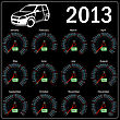 2013 Year ?alendar Speedometer Car In Vector.