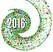 2016 Background Confetti Flying In A Spiral. Vector Illustration