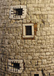 tower window brick backgrounds bars stone stock photo