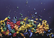 confetti colorful blue decoration paper backgrounds stock photo