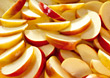 fruit apple backgrounds sliced slices produce stock image