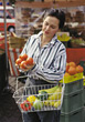 buy leisure people farmers market groceries stock photo